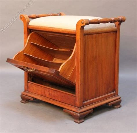 Walnut Piano Stool by Walnut Piano Stool C 1890 Antiques Atlas