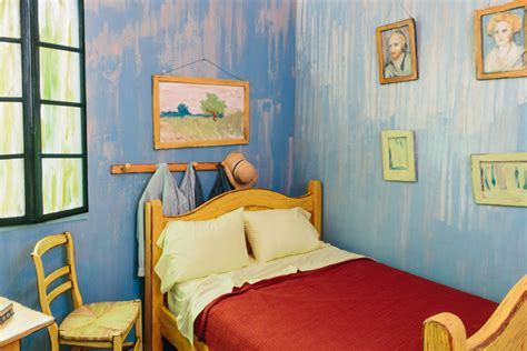 bedroom paintings the art institute of chicago recreates van gogh s famous