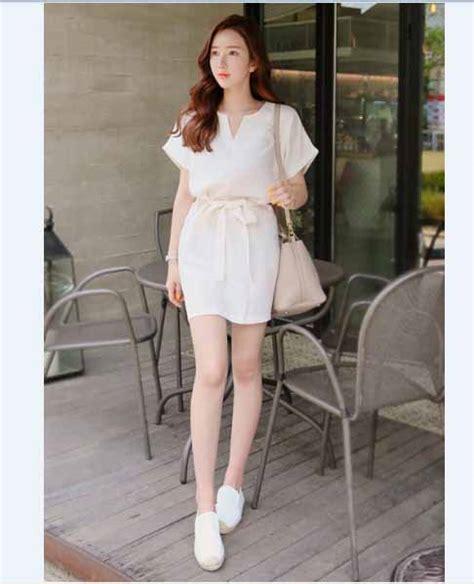 Jual Dress Putih Simple by Dress Putih Simple Berpita Jual Model Terbaru