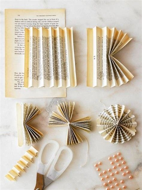 Do It Yourself Paper Crafts by Stylish Projects From Vintage Books Flower And