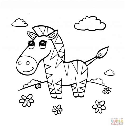 baby zebra coloring page cute baby zebra coloring pages only coloring pages