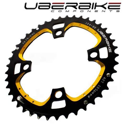Ring Probolt Ukuran 10 Stainless Gold uberbike cnc pro mtb chainring 42t 10 speed gold black
