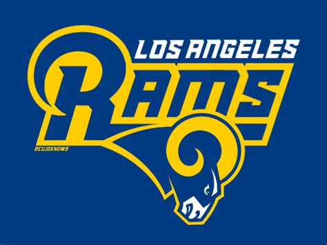 Kaos Sport Football Los Angeles Rams Alternate Logo 2 2016 Pres 1 rams logo writing la rams