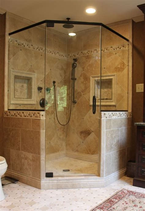 corner showers the space saving shower bath decors