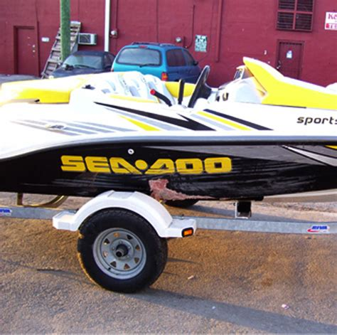 this seadoo crashed into some rocks and scraped the entire - Seadoo Boat Repair