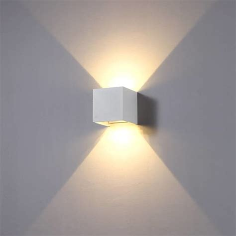 led indooroutdoor wall lamp cuub square white