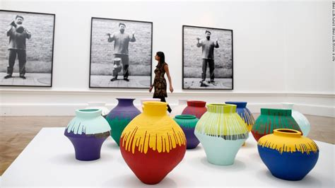 Ai Weiwei Dropping Vase by At Last In Pieces Ai Weiwei Is Here Cnn