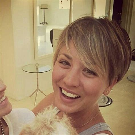 when did kaley cuoco cut her hair nothing but pixies hair pinterest
