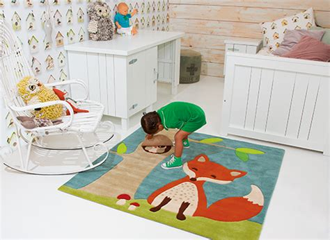 teppich waldtiere arte espina kinderteppich eule fuchs kinderlenland de