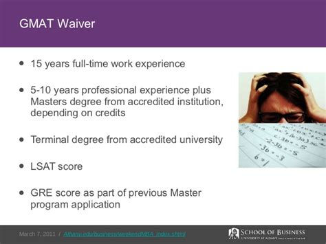 State Executive Mba Gmat Waiver by At Albany Weekend Mba Overview