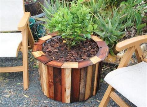 diy planter ideas diy ideas turn a plastic barrel into an outdoor planter