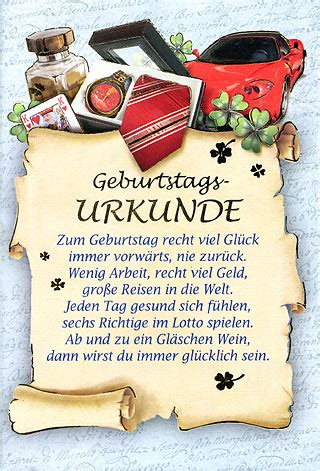 Postkarten Drucken Einzeln by 50 Geburtstagskarten 6 Motive Geburtstags Urkunde