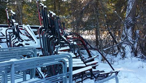 backyard ski lift ski chairlift swing custom hand made to order