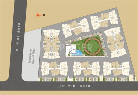 sky layout update 2 bhk 2t apartment for sale in suryam group sky vastral