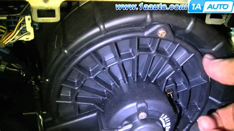 repair ac heater fan motor on a 2009 lincoln town car how to install replace ac heater blower fan motor honda