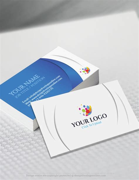Business Card Template Generator by Free Business Card Maker App 3d Wave Business Card Template