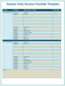 Daily Routine Template by Family Routine Template Calendar Template 2016