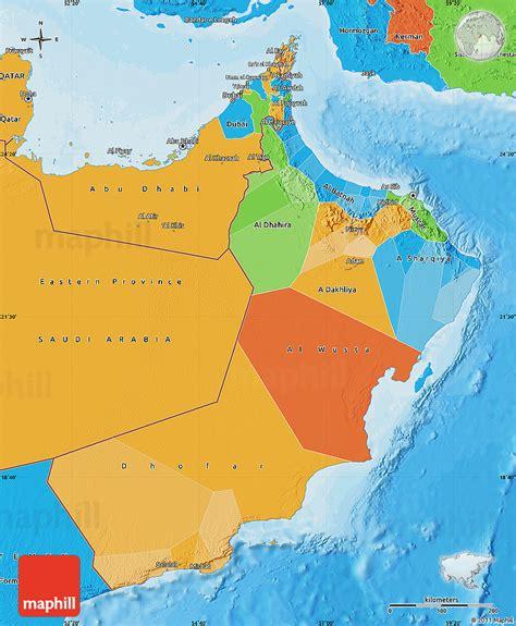 oman political map political map of oman