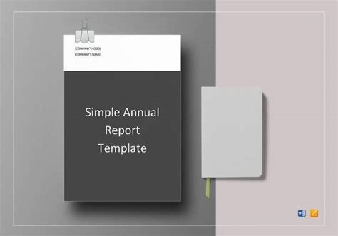 simple annual report template annual report template 16 documents in pdf