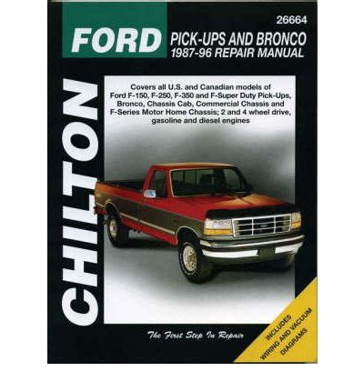 free car manuals to download 1987 ford bronco interior lighting ford pick ups and bronco 1987 96 sagin workshop car manuals repair books information