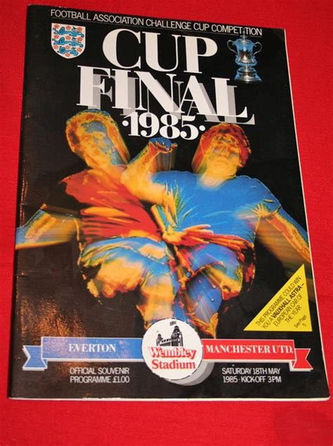 Dvd 1985 Fa Cup Manchester United V Everton Toko Sepakbola soccer fa cup 1985 programme everton vs manchester united was listed for r90 00 on 1 nov at 18