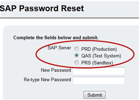 password reset tool in sap self help feature reset your sap password technews