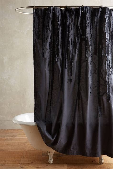 Cotton Shower Curtains Cotton Shower Curtain From Anthropologie Decoist