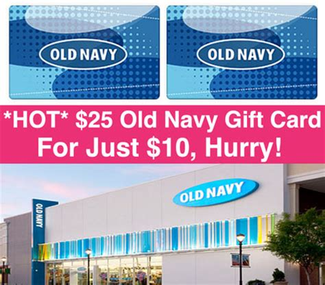 hot 10 old navy gift card just 4 hurry