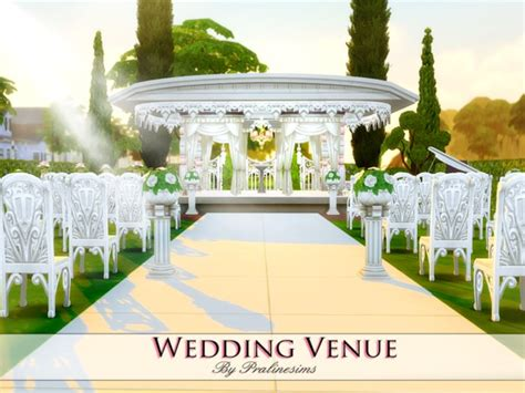 sims 4 wedding wedding venue by pralinesims at tsr 187 sims 4 updates