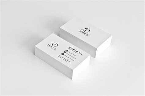 simple corporate business card template inspiration