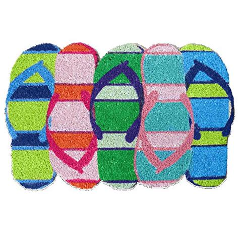 Flip Flop Door Mat by Flip Flop Shaped Door Mat Home Garden Decor Mats