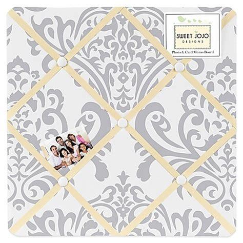 avery printable cotton fabric white sweet jojo designs avery fabric memo board in yellow grey