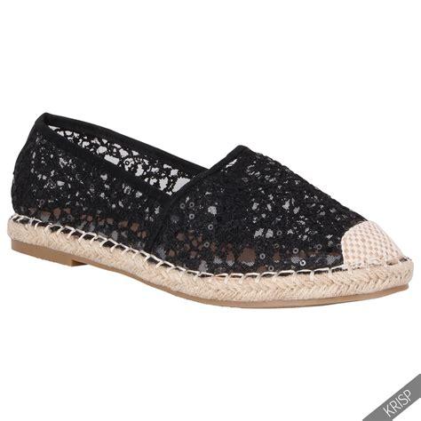 flat sequin shoes womens sequin mesh classic espadrilles flat slip on pumps