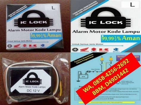 Alarm Motor Ic Lock wa 0858 4256 2692 jual aksesoris motor honda jual aksesoris motor to