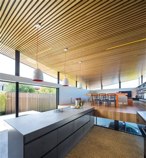 Timber Ceiling Battens by Mullet House Architectureau