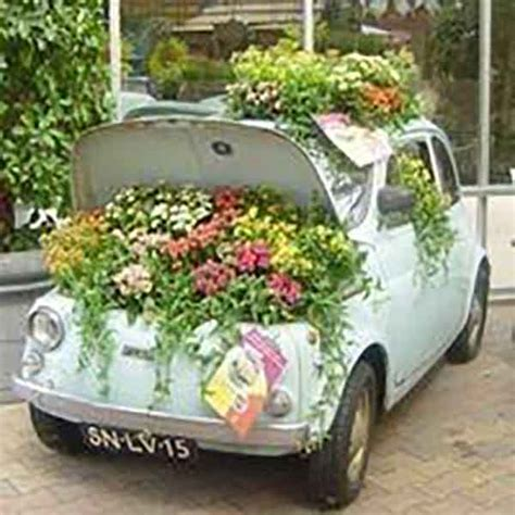 Car Planter 20 creative uses for items used as garden planters