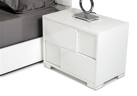 white bedroom nightstands modrest monza italian modern white nightstand