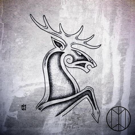 stag tattoo designs norse stag design by nirvanaoftime norse