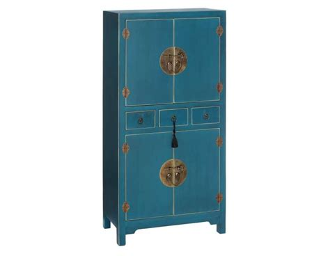 Armoire Bleu armoire bleue style chinois pour une chambre