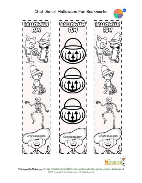 printable halloween bookmarks to color bookmarks for all occasions