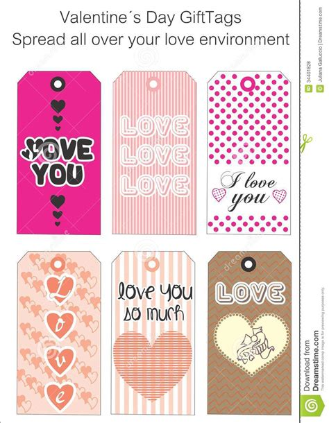 printable love gift tags love gift tags royalty free stock photos image 34401828