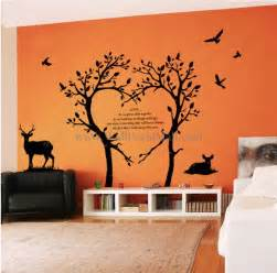 bambi love tree wall decals walldecalmall com wall decals bamboo trees wall stickers
