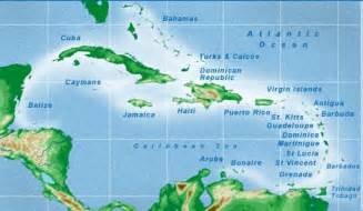 Caribbean Island Map by Caribbean Islands Map Visual Ly