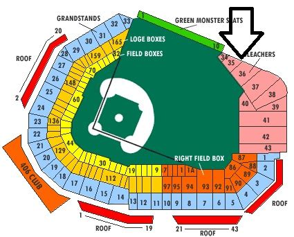 big house section map red sox 171 at home at fenway