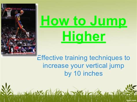 how to jump higher increase your vertical jump quickly