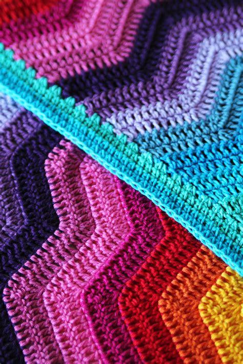 Crochet Ripple Baby Blanket Pattern by Rainbow Ripple Baby Blanket Haakmaarraak Nl