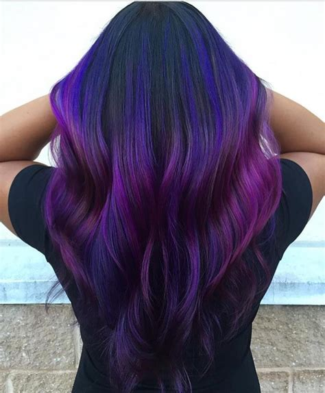color suggestions 50 glamorous dark purple hair color ideas destined to