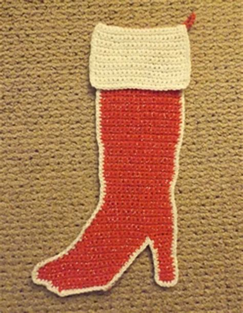 pattern for high heel christmas stocking ravelry high heel boot christmas stocking pattern by