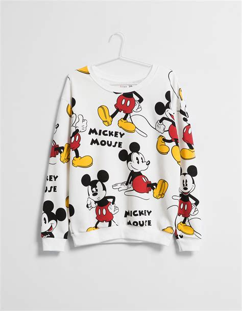 Sweater Disney Bershka by Sudadera Bsk Mickey Detalles Sudaderas Bershka Mexico