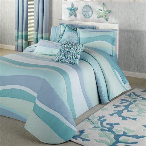 coastal themed comforters create comfortable bedroom with coastal bedding in a bag